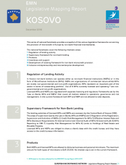 EMN Legislative Mapping Report - Kosovo