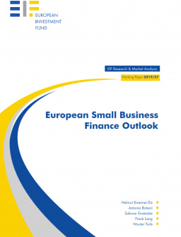 European Small Business Finance Outlook cover