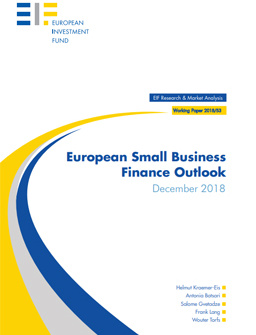 EIF Working Paper 2018/053: European Small Business Finance Outlook cover