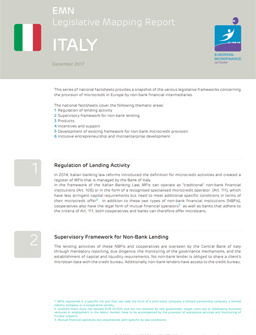 Legislative mapping report Italy