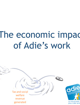 Summary of the 2016 survey on Adie's Social Return on Investment (SROI) cover